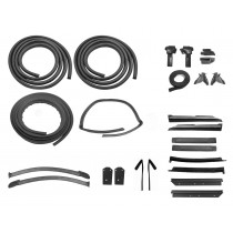1983-1984 Ford Mustang Convertible Deluxe 25 Piece Top, Doors, Trunk Weatherstrip Rubber Seal Kit