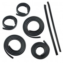 1987-1993 Ford Mustang LX Coupe 7-Piece Door & Trunk Weatherstrip Rubber Seal Kit