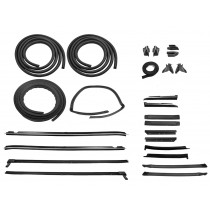 1988-1993  Mustang Convertible SUPER Weatherstrip Kit 23 pieces Ford Licensed