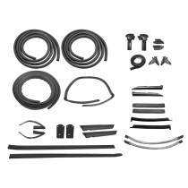 1987 Ford Mustang LX GT Convertible Super Weatherstrip Weatherstripping Rubber Seal Kit - 27 Pieces