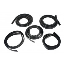 1979-1993 Mustang Coupe 5pc Ford Licensed Weatherstrip Rubber Seal Kit
