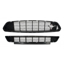 2015-2017 Mustang California Special Upper & Lower Front Grille w/ Tribar Emblem