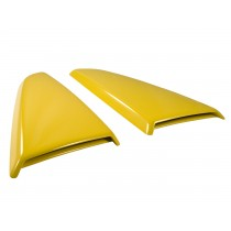 2015-2017 Mustang Genuine Ford Side Quarter Window Scoops Covers Triple Yellow H3