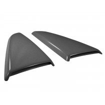 2015-2017 Mustang Genuine Ford Side Quarter Window Scoops Covers Magnetic Gray J7