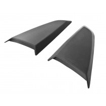 2015-2019 Ford Mustang Coupe Scott Drake Side Quarter Window Scoops Covers - Black