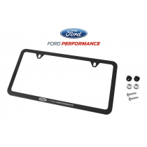 Mustang F-150 Ford Performance Black Stainless Steel License Plate Frame