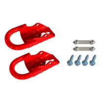 2015-2021 Ford F150 OEM M-18954-F15R Red Front Tow Hooks Pair