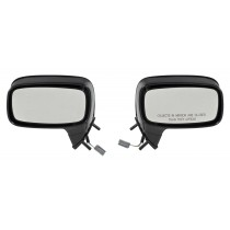 1988-1993 Ford Mustang Convertible LH RH Side Outside Door Mirrors - Pair