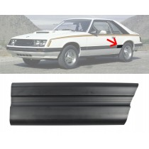 1979-1984 Ford Mustang Front of Quarter Panel Body Moulding Molding Black LH Drivers Side