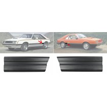 1979-1984 Ford Mustang Front of Quarter Panel Body Moulding Moldings Pair