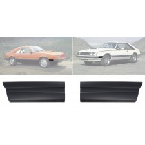 1979-1984 Ford Mustang Front of Fender Trim Mouldings Molding Black - Pair LH & RH