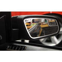 2010-2012 Mustang GT 5.0 Brushed Stainless Side View Mirror Trim - Pair