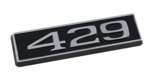 429 Ford Mustang Black Chrome Plated Engine Hood Scoop Emblem