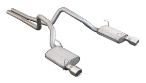 """2005-2009 Mustang GT Pypes Cat-Back Exhaust System w/ Violator Mufflers 4"""" Tips"""