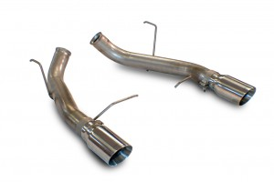 "2011-14 Mustang GT Boss 302 SLP Loud Mouth Axle-Back Muffler Delete Kit 4"" Tips"