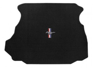 1994-1998 Mustang Black Lloyd Trunk Mat w/ Pony & Bars