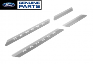 2019-2020 Ford Ranger Supercrew OEM Polished Stainless Door Sill Step Plates 4pc