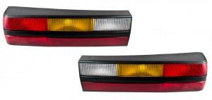 1983-1986 Mustang LX GT Black OEM Complete Taillights Tail Lights with Housings LH RH