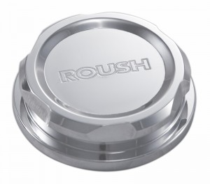 2010-2014 Mustang Roush Engraved Polished Billet Washer Fluid Cap