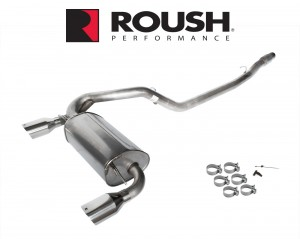 """2016-2018 Focus RS Roush 422102 Passive Cat Back Dual Exhaust System w 4.5"""" Tips"""