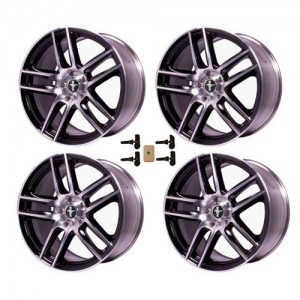 """2005-2014 Mustang Boss 302S 19"""" x 9"""" Machined +  Accents Wheels Set w/ TPMS Kit"""